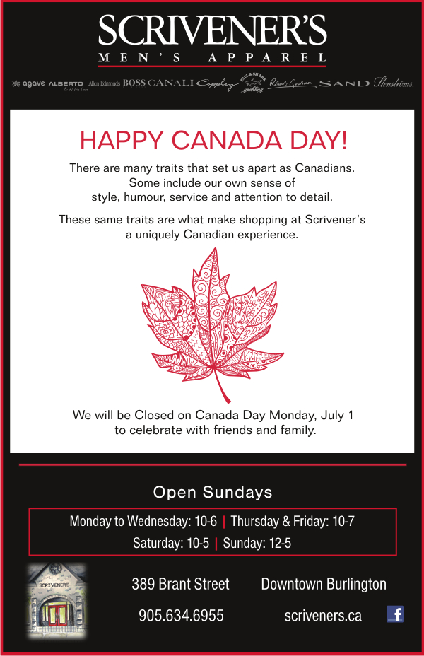 Happy Canada Day from Scriveners