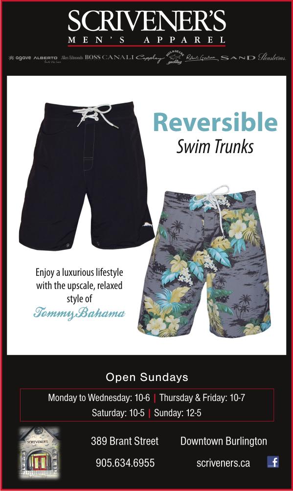Tommy Bahama Reversible Swim Trunks at Scriveners