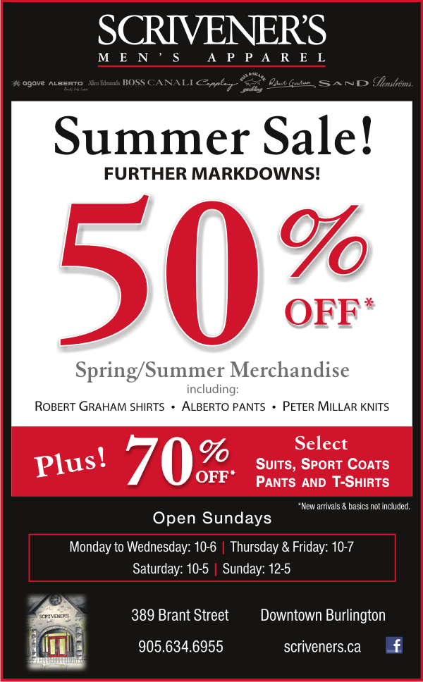 Summer Sale Further Markdowns at Scrivener's