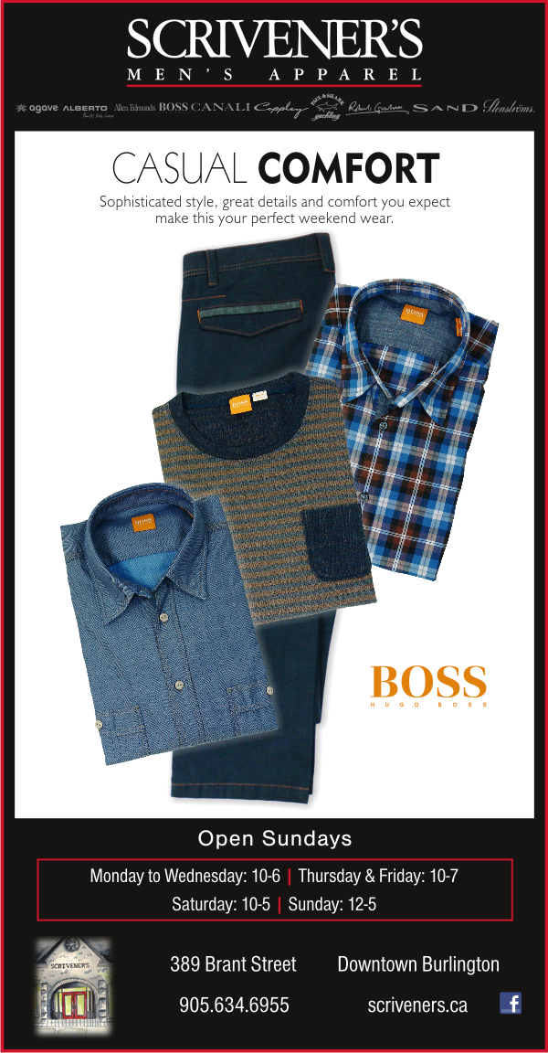 Casual Comfort - Boss Orange at Scrivener's