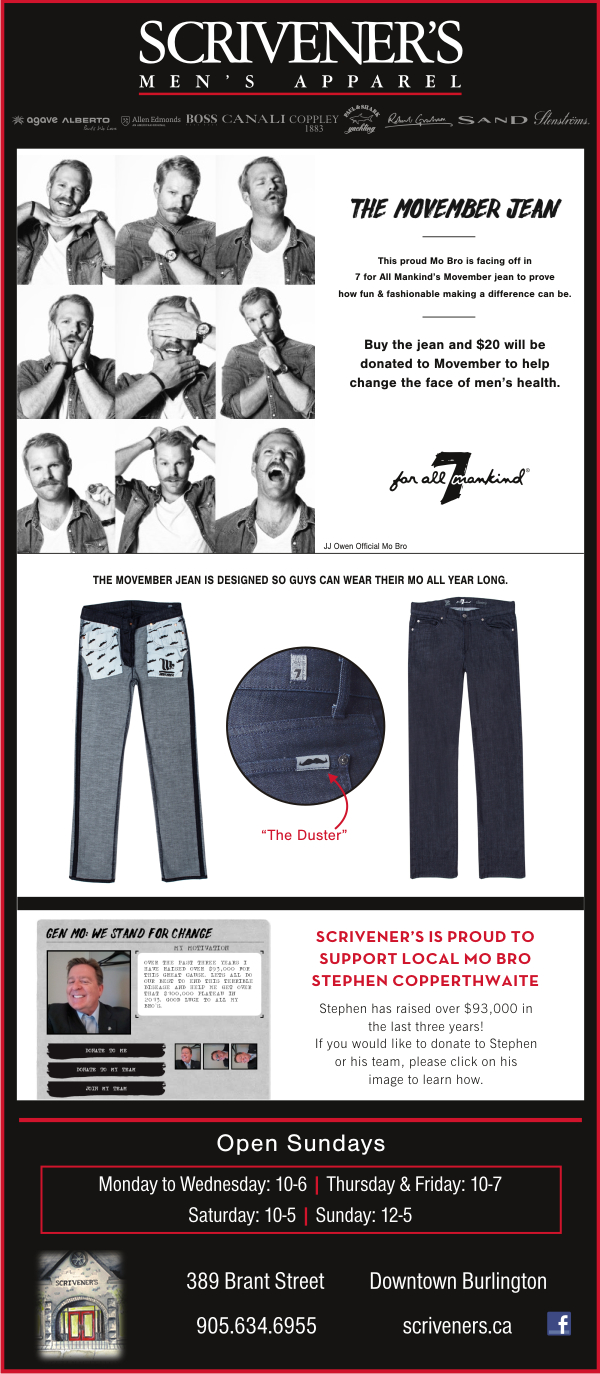 The Movember Jean by 7 for All Mankind at Scrivener's