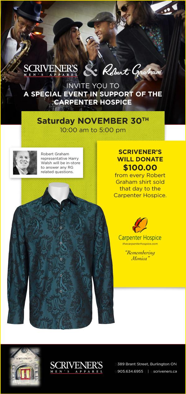 Buy Robert Graham and Scrivener's will donate One Hundred Dollars to Carpenter Hospice