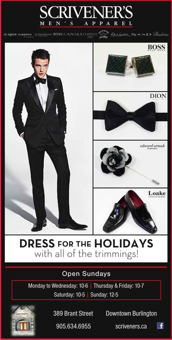 Dress for the Holidays at Scrivener's