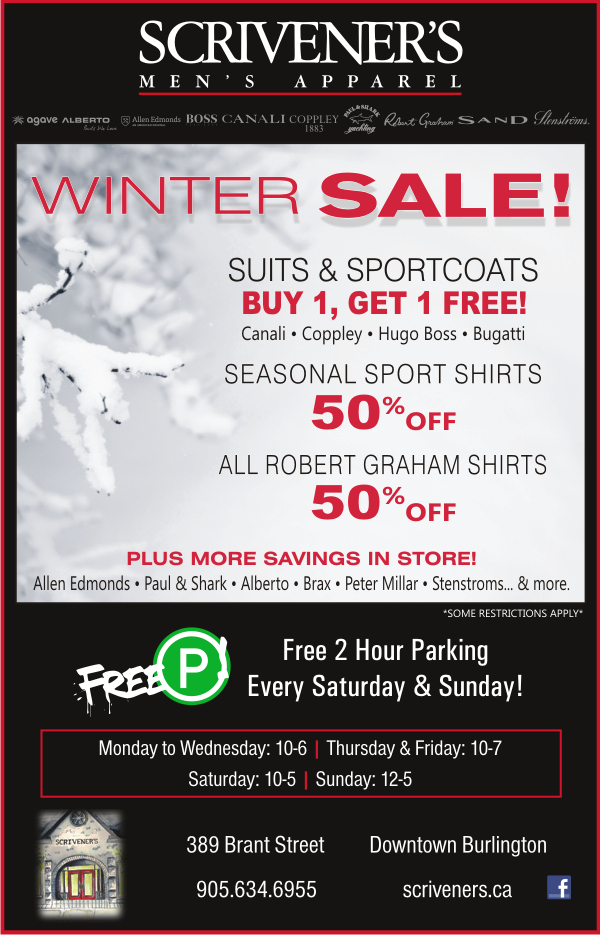 Winter Sale Continues at Scrivener's