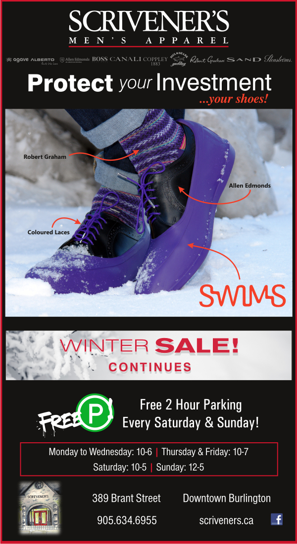Protect Your Shoes with Swims at Scrivener's