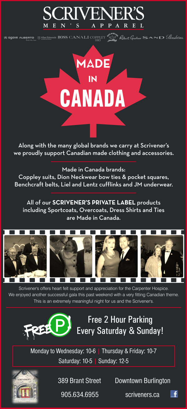 Canadian Made Products at Scrivener's