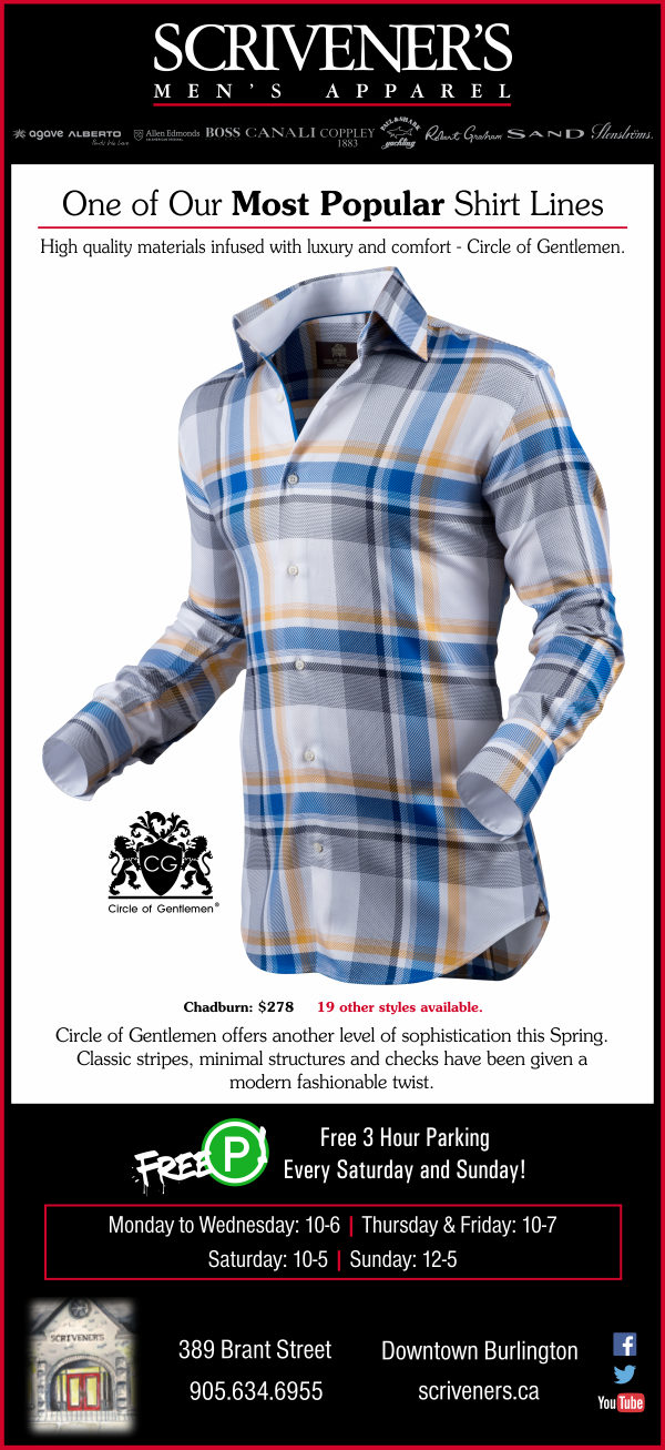 Circle of Gentlemen shirts at Scrivener's