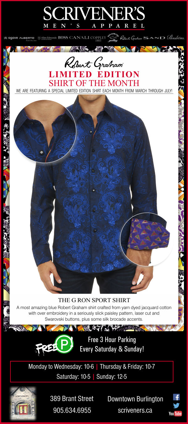 Robert Graham Limited Edition shirt at Scrivener's - March