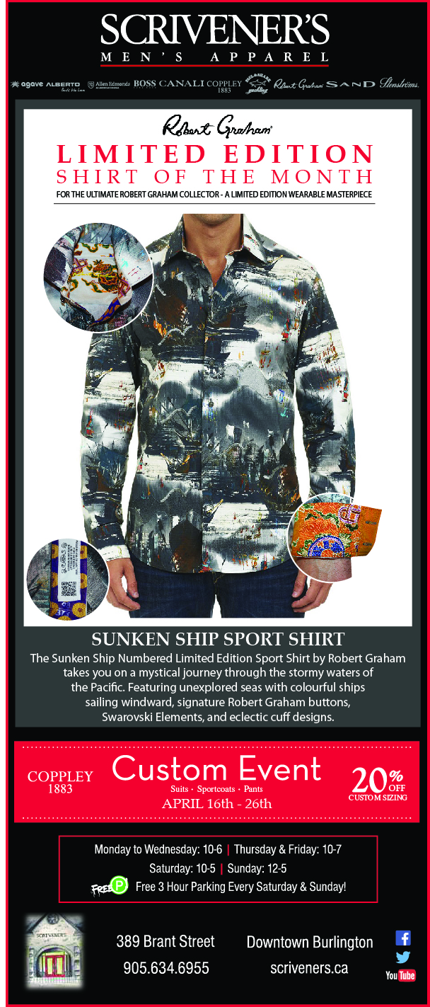 Robert Graham Limited Edition Shirt for April at Scrivener's