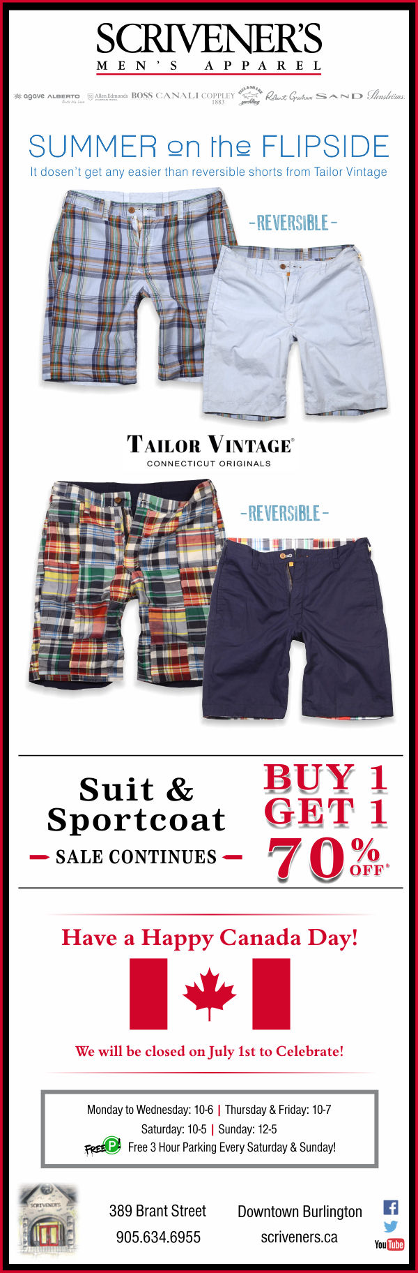 Reversible Shorts at Scrivener's