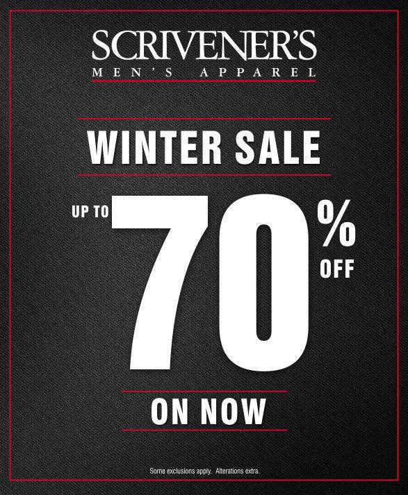 Scrivener's Winter 2017 Sale
