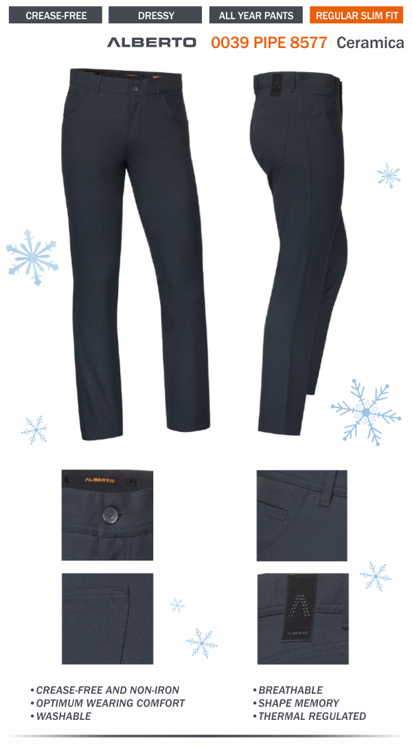 Alberto Pipe Ceramica Slim Fit Pant