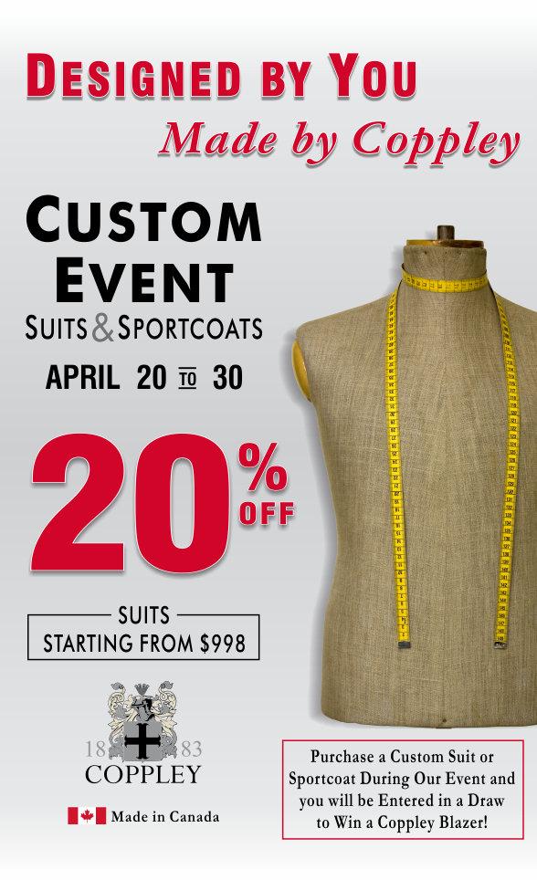 Coppley Custom Event April 20-30, 2017
