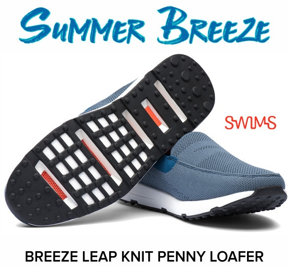 Summer Breeze! Swims Breeze Leap Knit Penny Loafer