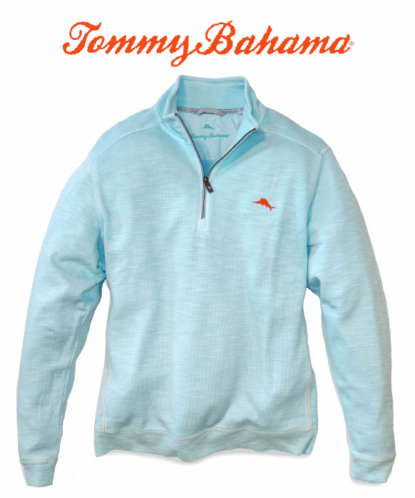 Tommy Bahama Tobago Bay pullover in aqua