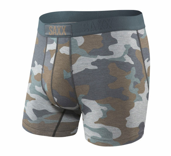 Saxx Underwear - Friction-free support. Grey Camo Vibe.