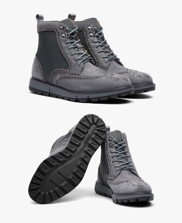 Swims Motion Wing Tip Boot - grey-black