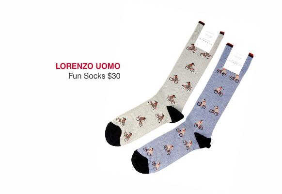Lorenzo Uomo fun socks $30