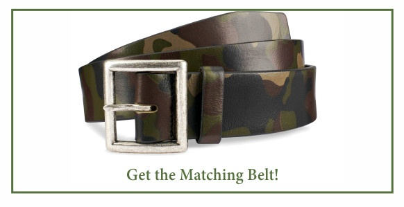 Get the matching Allen Edmonds camo belt.