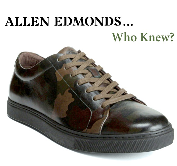 Allen Edmonds... Who Knew? Canal Court camouflage sneaker.