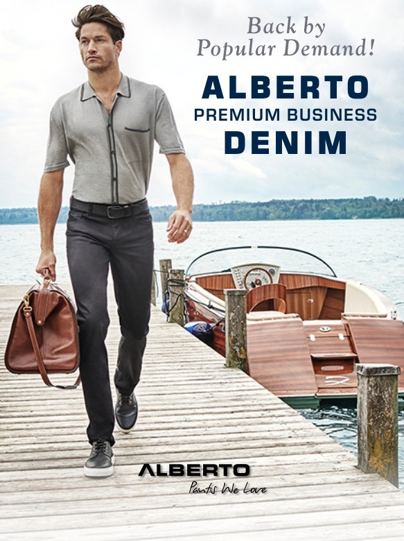 Back by popular demand - Alberto Business Denim