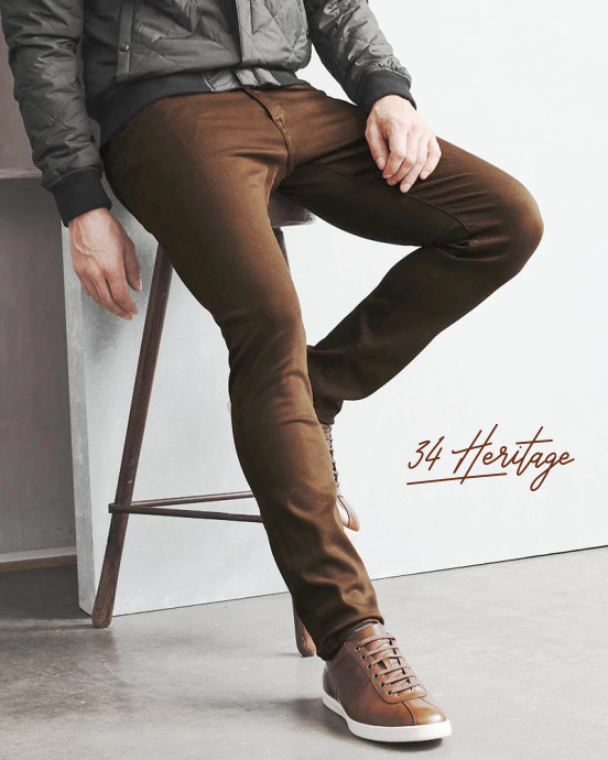 34 Heritage non-denim brown pants