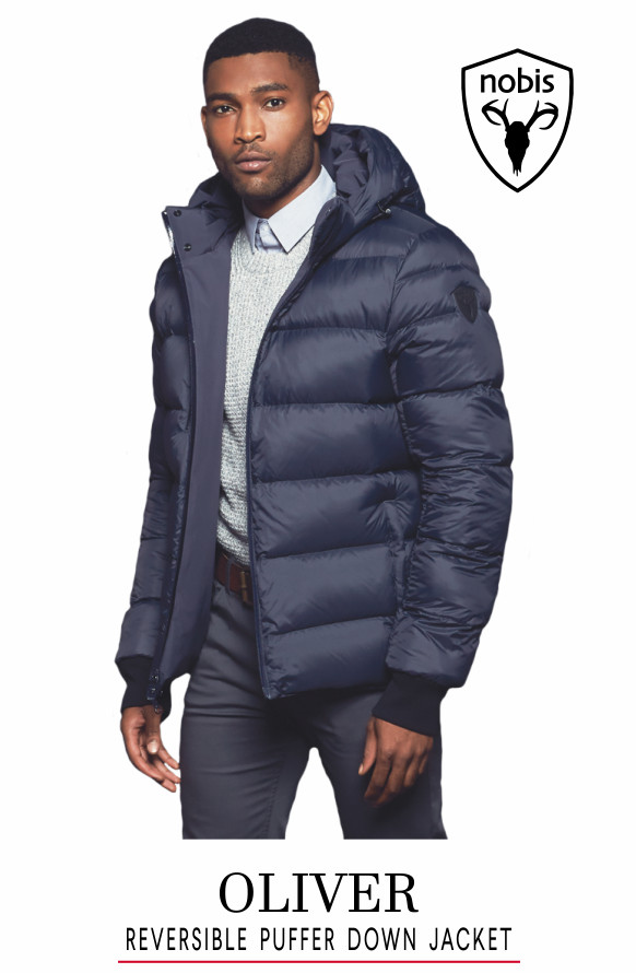 Nobis Oliver Reversible Puffer Jacket on model
