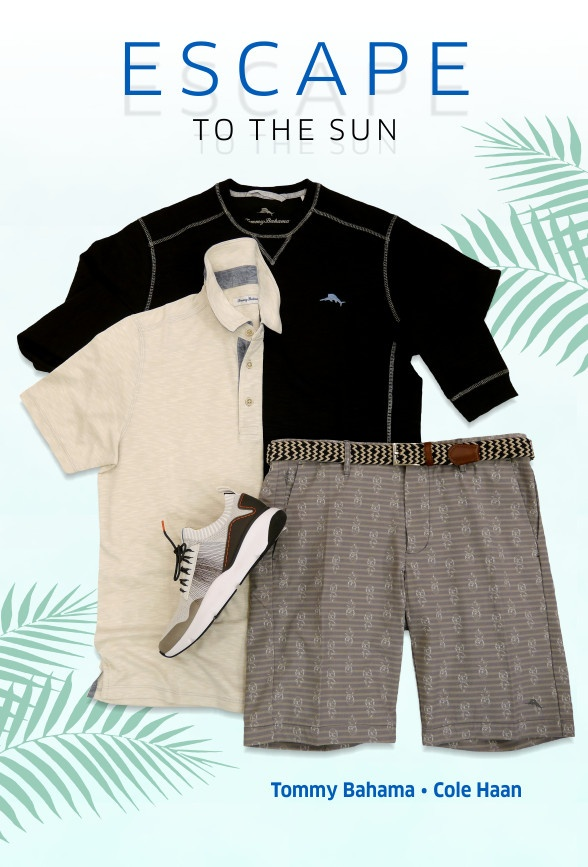 Escape to the sun with Tommy Bahama, Cole Haan and Lindenmann