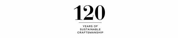 120 Years of Sustainable Craftsmanship logo