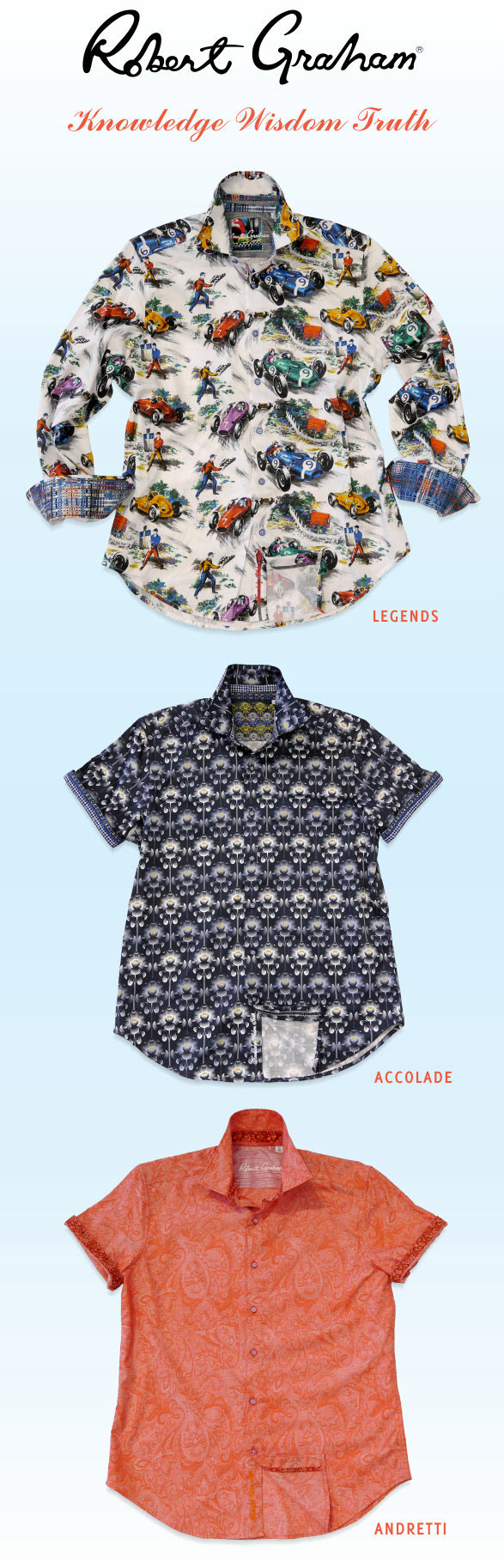Robert Graham shirts - Legends, Accolade and Andretti