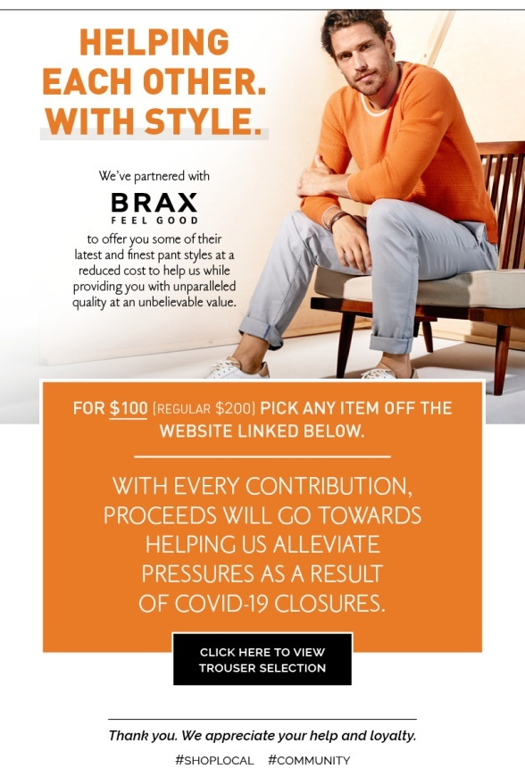 We have partnered with Brax to give you great pants at a reduced price.